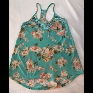 Beautiful Floral Sequins Top